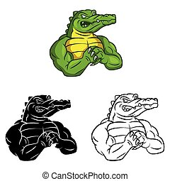 Coloring book Crocodile caracter - Coloring book Crocodile...