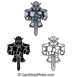 Coloring book Knight caracter