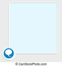 vector blue text box with speech bubble