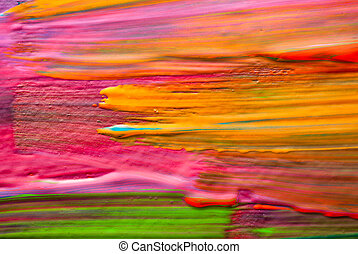 Abstract art backgrounds. Hand-painted background. SELF...