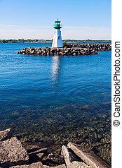 Prescott Heritage Harbour Lighthouse and Ogdensburg, Vermont...