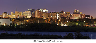Skyline of Regina, Saskatchewan - Skyline of Regina at...