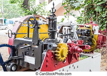 moteur, modèle,  train, vieux