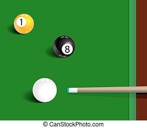 Billiards sport game background