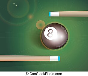 The eight ball Billiard Background