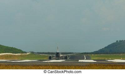 Take-off - Airplane take-off, International Phuket Airport,...