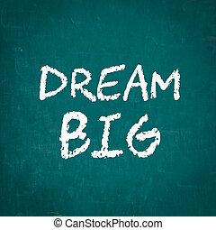 DREAM BIG written on chalkboard