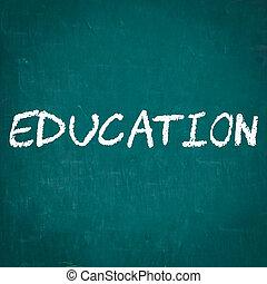 EDUCATION written on chalkboard