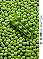 pea pod with peas