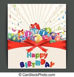 Birthday card design - Vector Illustration of Birthday card...