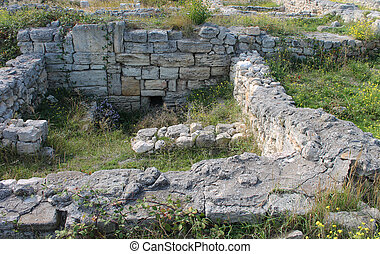 Foundation and remains of the old city