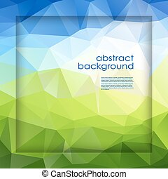 abstract background polygon - Vector abstract polygonal...
