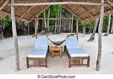 Private Beach Beds - Two Vacant Luxury Beach Beds and...