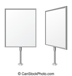White Board - White presentation board with blank space for...
