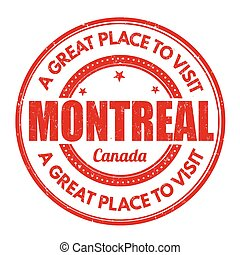 Montreal stamp - Montreal grunge rubber stamp on white...