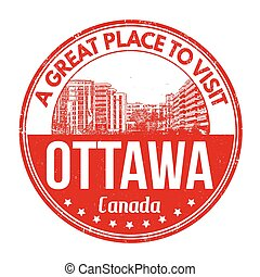Ottawa stamp - Ottawa grunge rubber stamp on white...