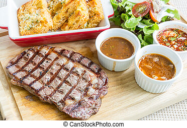 wagyu rib-eye beef steak - australian wagyu rib-eye beef...