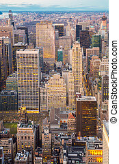 New York City Aerial - Aerial New York City skyline urban...