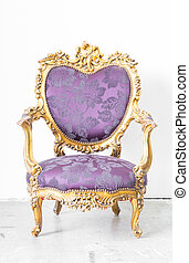 Purple Royal Chair - Royal Purple classical style Armchair...