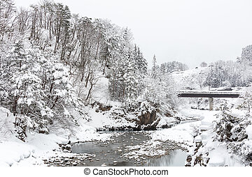 Shirakawago Japan Winter - Beautiful Snowfall winter...