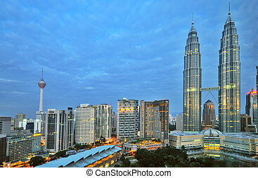 Early Morning KL - Early Morning in Kuala Lumur