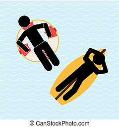 beach vacations design, vector illustration eps10 graphic