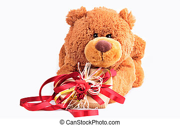 Toy-bear with a Present