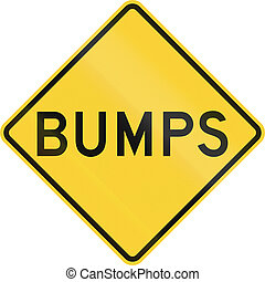 Bumps - US warning traffic sign: Bumps