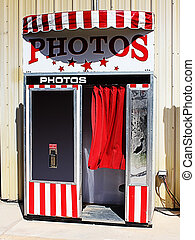 Retro Photo Booth - An image of a retro photo booth.