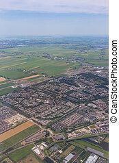 Krajobraz, mieszkaniowy, antena,  Amsterdam, powierzchnia