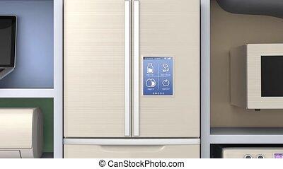 Home appliances in cloud shelf