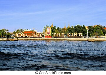 Sign to commemorate the Thai Kings birthday - Long live the...