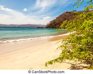 Costa Rica - Beautiful view of the tropical beaches that...