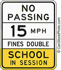 School Speed Limit Sign Arizona - United states school...