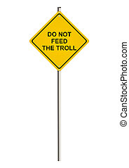 Internet trolling Road sign Raster