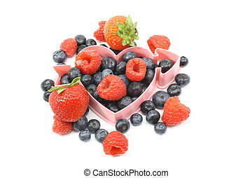 Heart healthy fresh berries
