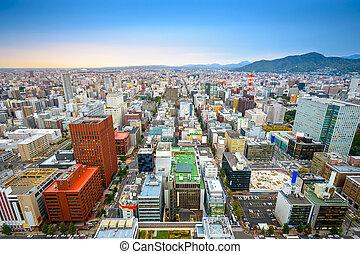 Sapporo Cityscape - Sapporo, Japan central ward cityscape...
