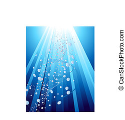 Underwater rays background for design use Vector...