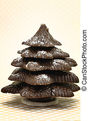Festive Christmas chocolate tree confectionery
