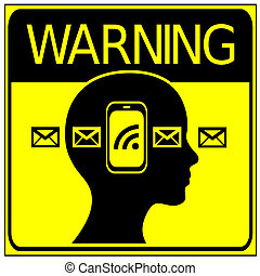 No Cell Phone in Road Traffic - Warning sign not to phone or...