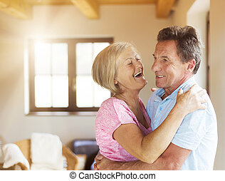 Senior couple in love - Beautiful senior couple in love...