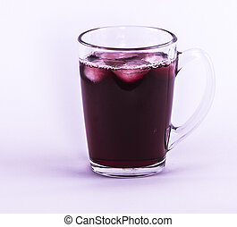Red drink - Image of red drink in the cap isolated...