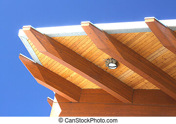 Modern roof construction detail. - Modern roof architecture...