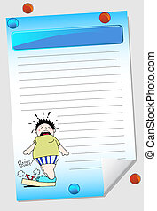 weight notepad isolated on a white background