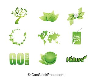 green nature concept icon set