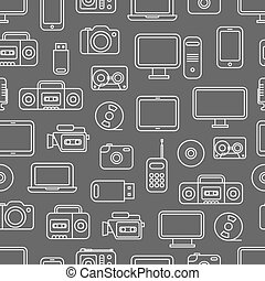 Different media devices seamless pattern