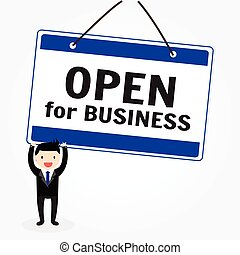 Open for Business - The words Open for Business store or...