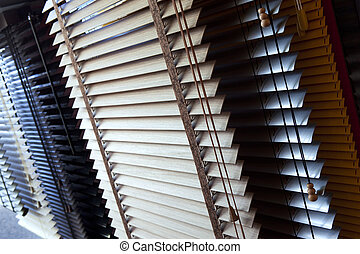 Venetian blinds - Close up of Venetian blinds in a showroom