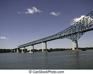 Railroad bridge across the St Lawrence - A railroad bridge...
