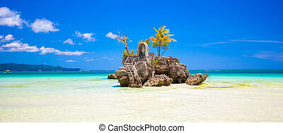 Willys rock on island Boracay, Philippines - Willys rock on...